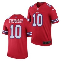 10 Mitchell Trubisky Nike Red Color Rush Vapor Limited Player Jersey